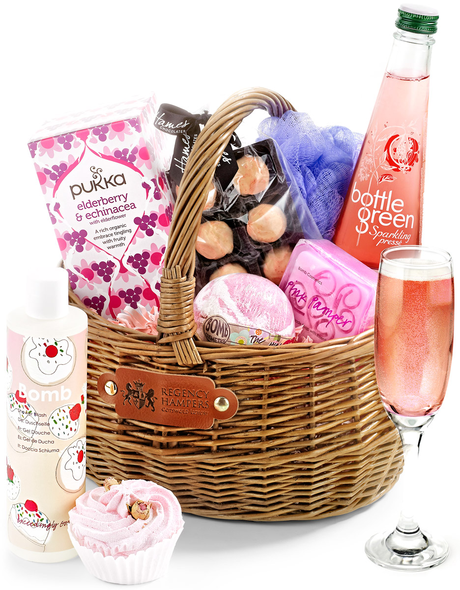 Pampering set in gift basket with alcohol free press regency hampers alcohol free pampering set in gift basket negle Choice Image