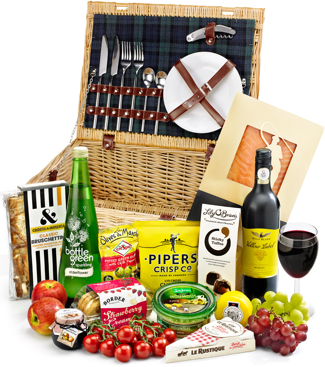 Red Wine Stanton Fitted Picnic Hamper