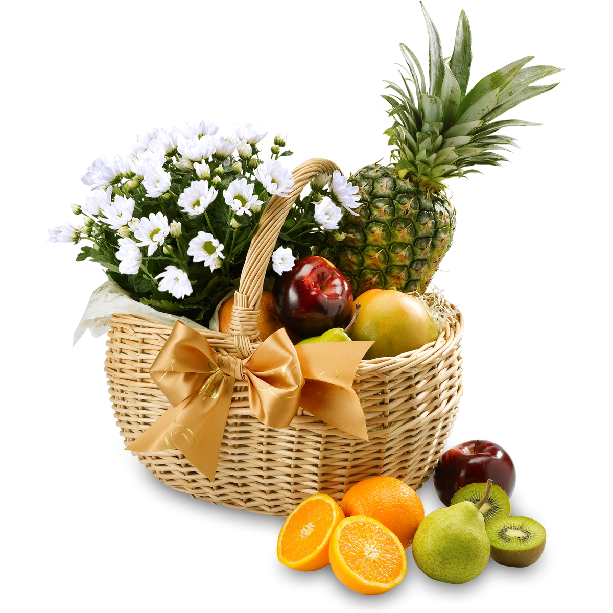 Fruit Flower Baskets Saskatoon : Fruit flower basket fresh hampers floral baskets