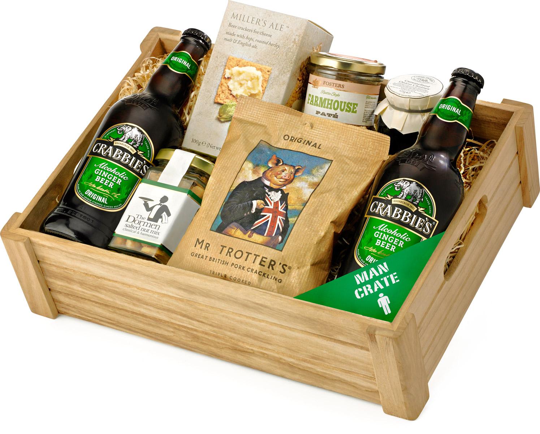 Ginger Beer Man Crate Amp Snack Selection Tray Regency Hampers