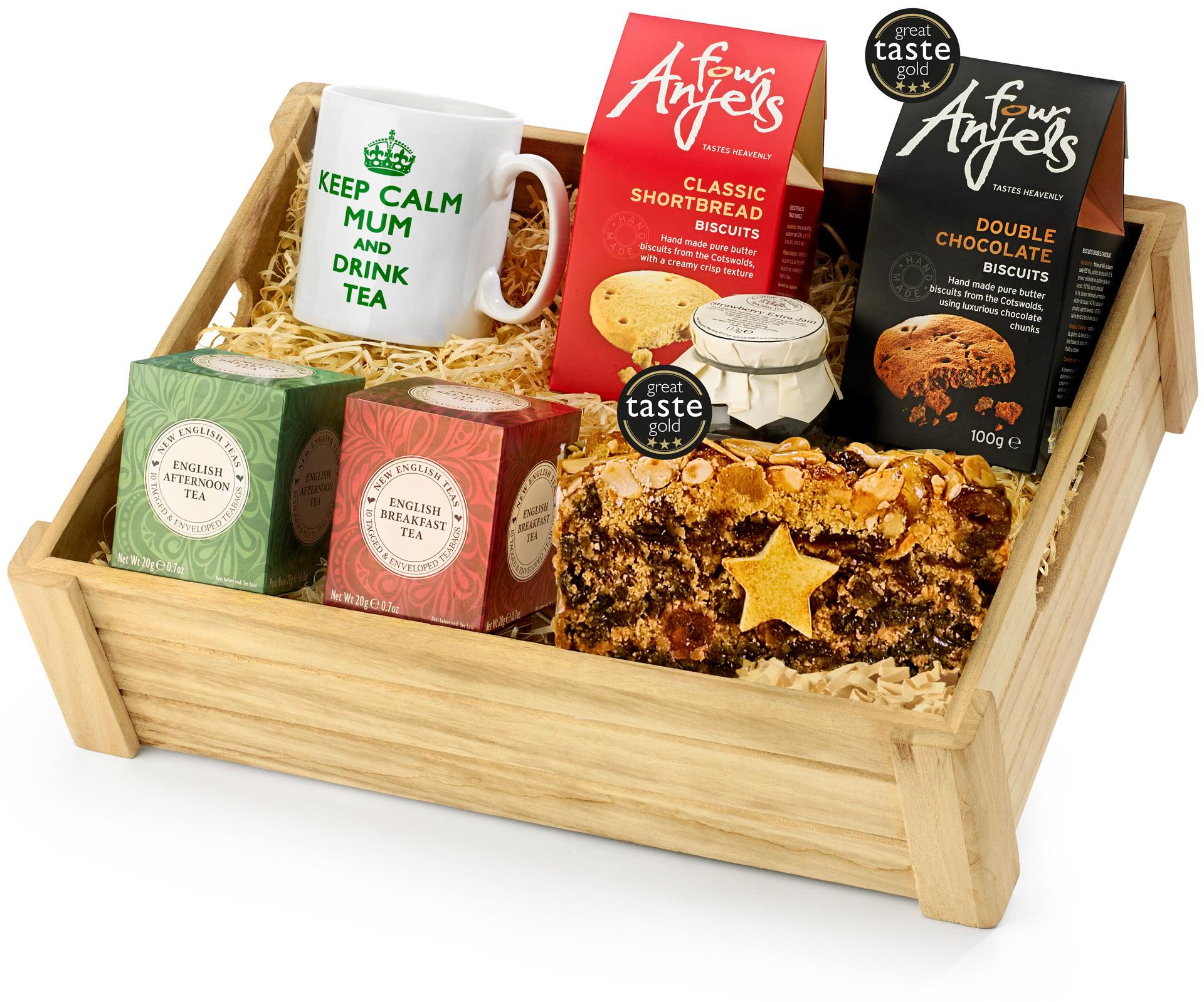 Mother S Day Tea Lover S Gift Set In Wood Regency Hampers
