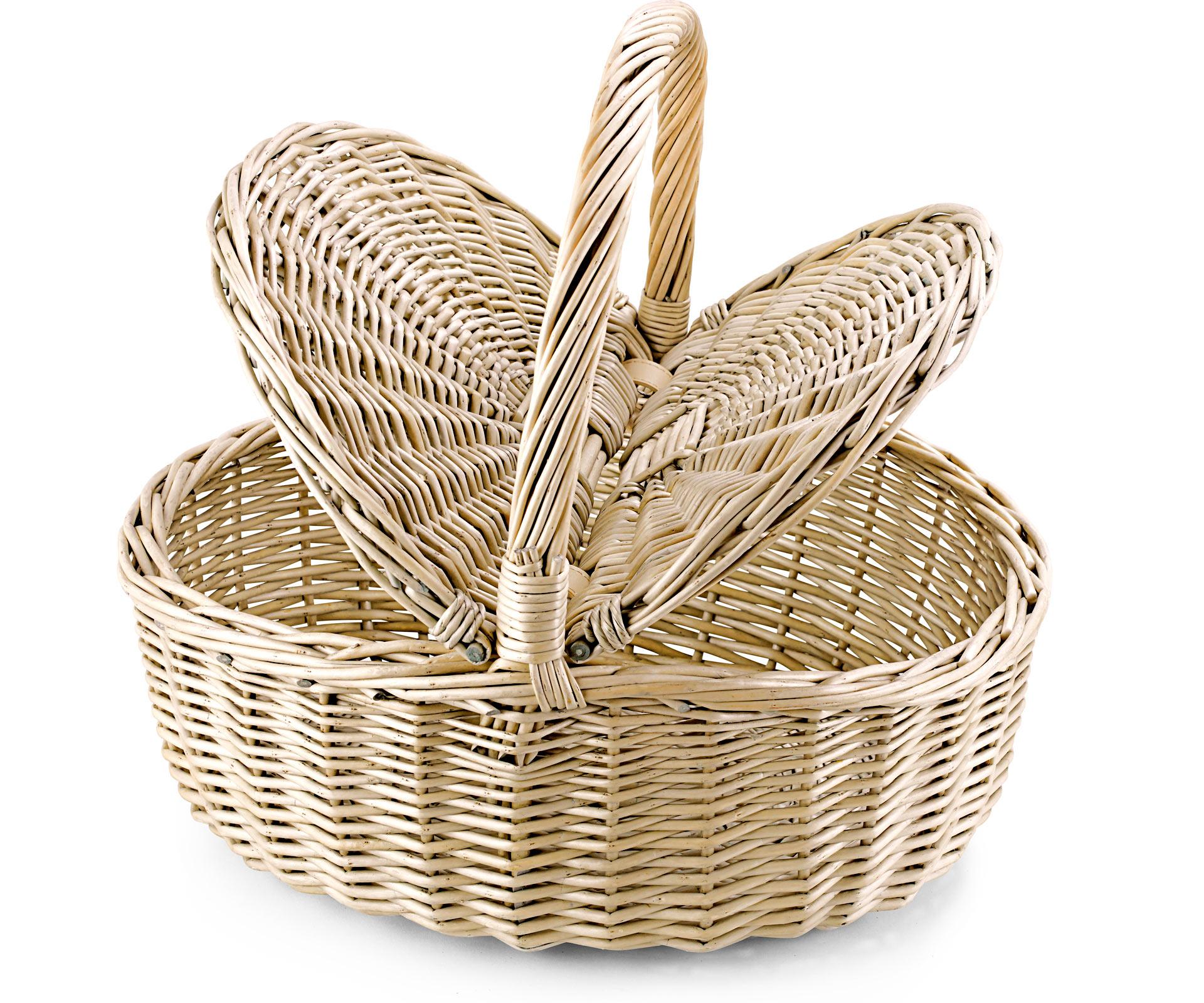 Picnic Basket Empty : Empty picnic basket twin hamper style oval all