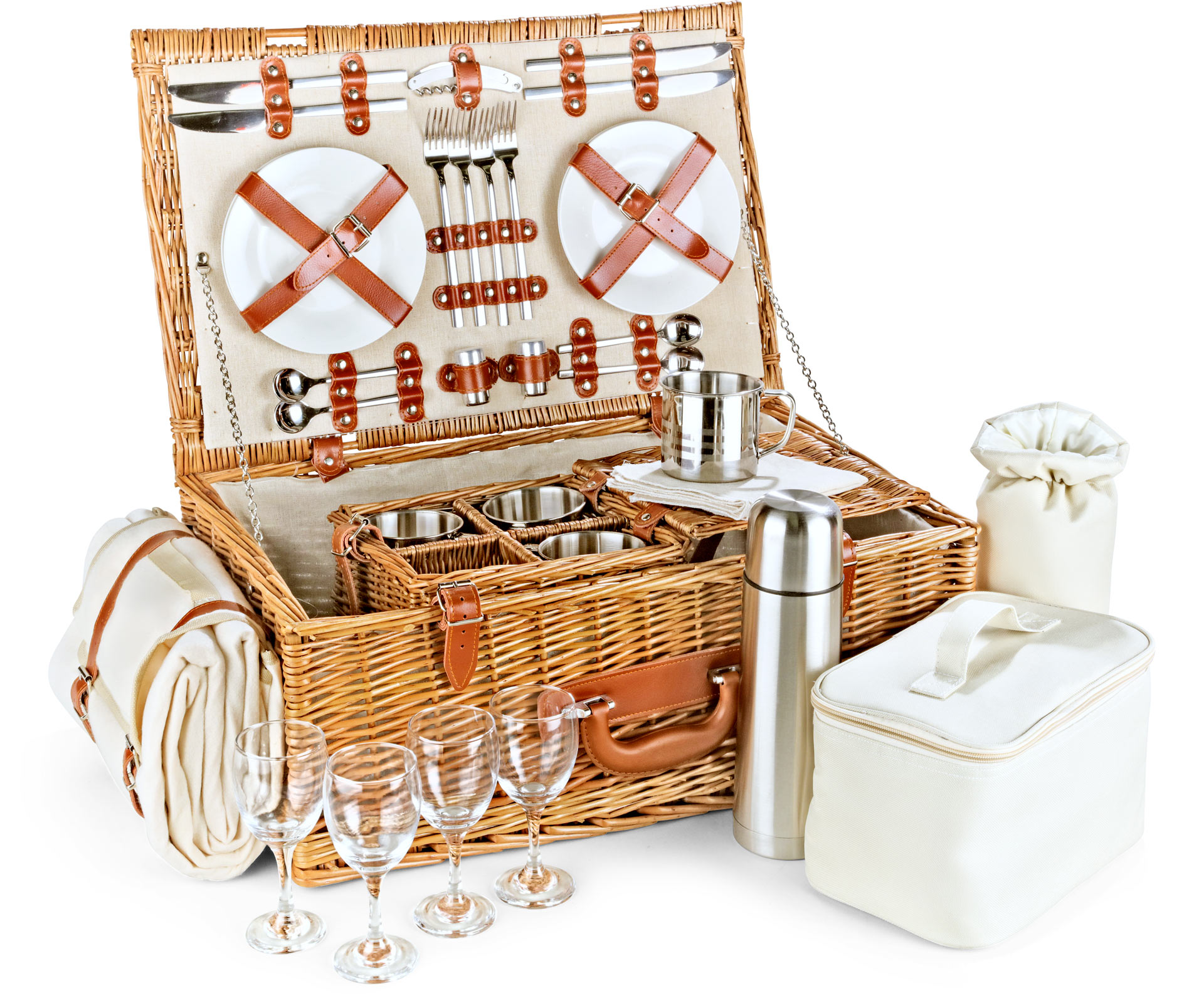 Optima Gordon 4 Person Tea Picnic Basket : Find every in the world selling basket person at